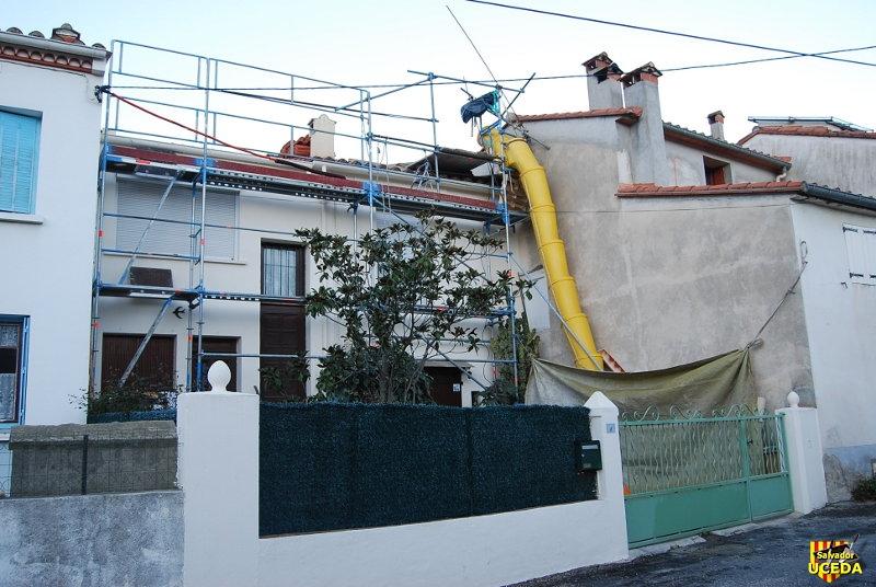 Sorède rénovation toiture Foun del Sabate par l'entreprise Salvador Uceda