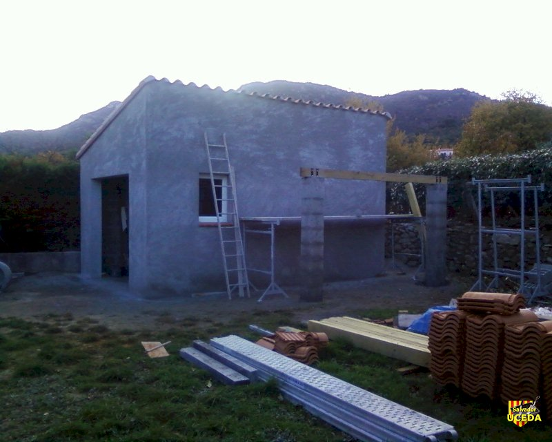 Garage parasismique Uceda - construction