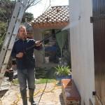 nettoyage des murs au jet pression moderée