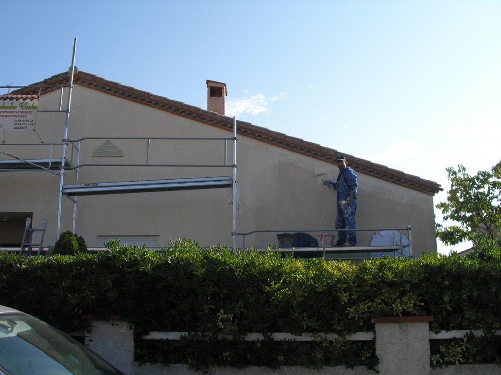 Échafaudages Uceda pour ravalement de façade